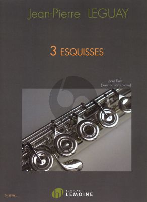 Leguay 3 Esquisses for Flute (with or without piano)