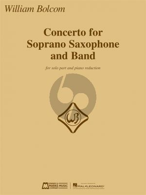 Bolcom Concerto for Soprano Saxophone and Band (piano reduction)