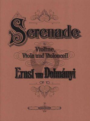 Dohnanyi Serenade Opus 10 Violine-Viola-Violoncello Stimmen