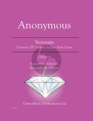 Anonymus Serenata for 2 Violas - Fourteen 18th Century Italian Duets (Prepared and Edited by Kenneth Martinson) (Urtext)
