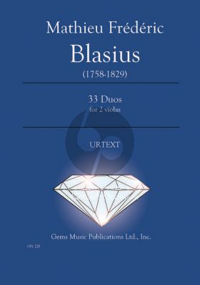 Blasius 33 Viola Duos (Prepared and Edited by Kenneth Martinson) (Urtext)