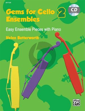 Butterworth Gems for Cello Ensembles 2 (Easy Ensemble Pieces with Piano) (Bk-Cd)