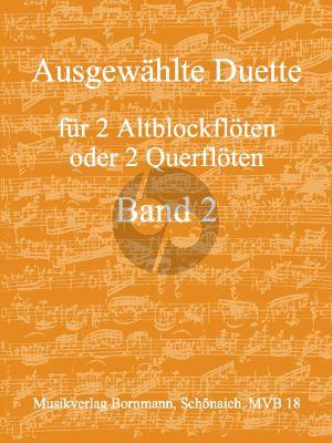 Ausgwahlte Duette Vol. 2 2 Altblockflote oder Floten (Johannes Bornmann)