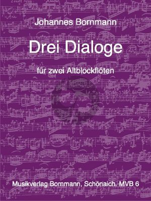 Bornmann 3 Dialoge 2 Altblockflöten