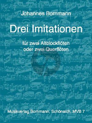 Bornmann 3 Imitationen 2 Altblockflöten