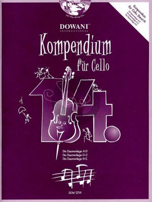 Kompendium für Cello Vol. 14 (Buch mit 2 CD's)