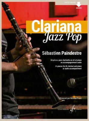 Paindestre Clariana Jazz Pop Clarinet - Piano (24 pieces Book with Audio Online)