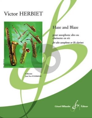 Haze and Blaze for Alto Saxophone or Bes Clarinet