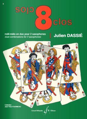Dassie 8 Clos Meli-Melo pour 2 Saxophones (duet combinations for 2 saxophones)