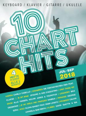 10 Charthits - Jul bis Sep 2018 (Piano-Vocal-Guitar)