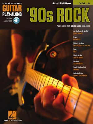 '90 s Rock for Guitar (Hal Leonard Guitar Play-Along Vol. 6) (Book with Audio online)