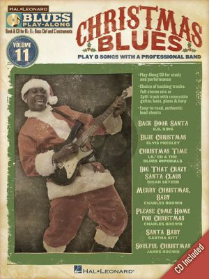 Christmas Blues Hal Leonard Blues Play-Along Volume 11 Book & CD (All C-Bb-Eb and Bass Clef Instr.)