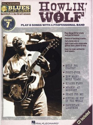 Howlin'Wolf Hal Leonard Blues Play-Along Volume 7 Book & CD (All C-Bb-Eb and Bass Clef Instr.)