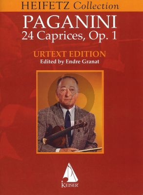 Paganini 24 Caprices Opus 1 for Violin Solo ( Heifetz Collection ) (edited by Endre Granat)