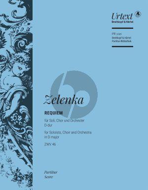 Zelenka Requiem D-dur ZWV 46 Soli-Chor-Orchester Partitur (David Erler)