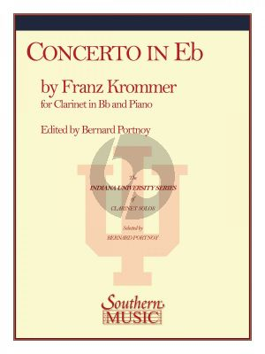 Krommer Concerto E-flat major Op.36 Clarinet and Piano (edited by Bernard Portnoy)