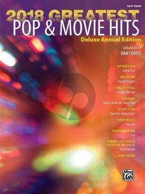 2018 Greatest Pop & Movie Hits Easy Piano (arr. Dan Coates)