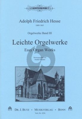 Hesse Orgelwerke Band 3 Leichte Orgelwerke (Jochem Riem)