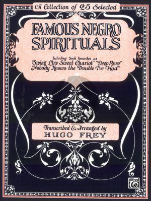 Famous Negro Spirituals (Piano-Vocal-Guitar) (edited by Hugo Frey)