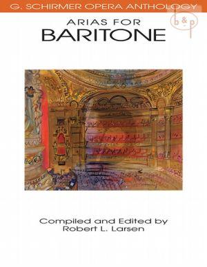 Opera Anthology Arias for Baritone