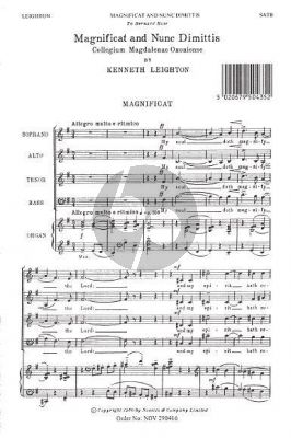 Leighton Magnificat And Nunc Dimittis (Magdalen Service) (SATB and Organ)