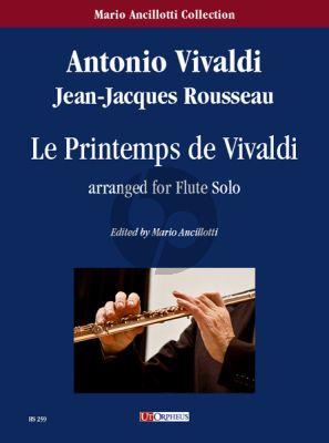 Vivaldi Le Printemps de Vivaldi for Flute Solo (transcr. Jean-Jacques Rousseau)