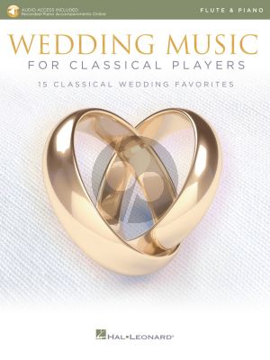 Wedding Music for Classical Players – Flute and Piano (Book with Audio online)
