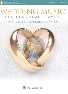 Wedding Music for Classical Players – Trumpet and Piano (Book with Audio online)