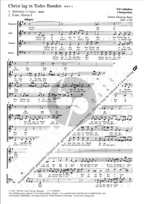 Bach Kantate BWV 4 Christ lag in Todes Banden (Soli SATB-Chor SATB-Orchester (Reinhold Kubik)) (Chorpartitur)