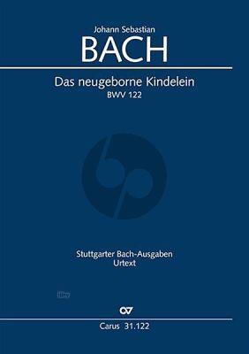 Bach Kantate BWV 122 Das neugeborne Kindelein (Soli-Chor Orchester Partitur dt./engl.) (Christiane Hausmann)