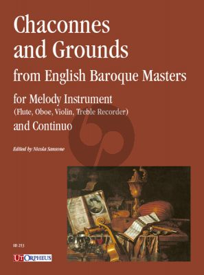Chaconnes and Grounds from English Baroque Masters for Melody Instrument