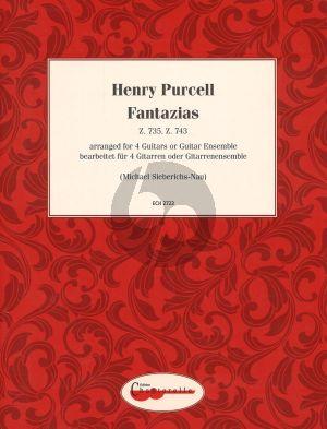 Purcell Fantazias Z. 735 Z. 743 Arranged for 4 Guitars or Guitar Ensemble (Arr. Michael Sieberichs-Nau)