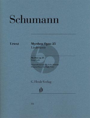 Schumann Myrthen Opus 25 Liederkreis Hohe Stimme (Kazuko Ozawa)