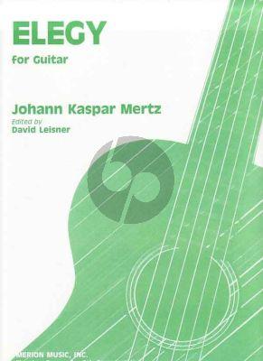 Mertz Elegy for Guitar (edited by David Leisner)