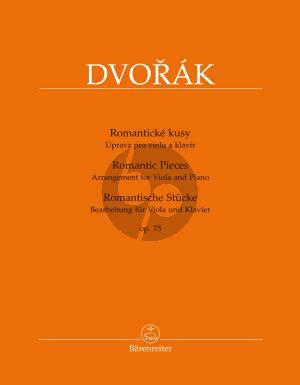 Dvorak Romantic Pieces Opus 75 Viola and Piano (transcr. by Bella Kalinowska and Semjon Kalinowsky)