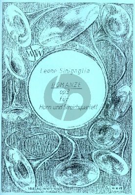 Sinigaglia Romanze Op.3 Horn und Streichquintett (Partitur und Stimmen)