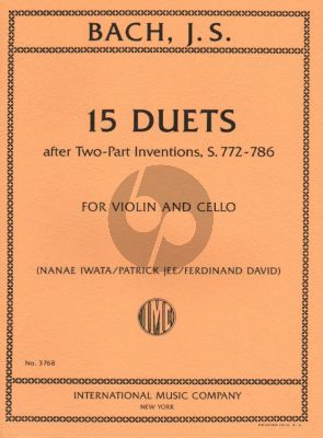 Bach 15 Duets after Two-Part Inventions, S. 772-786 Violin-Cello (Patrick Jee and Nanae Iwata)
