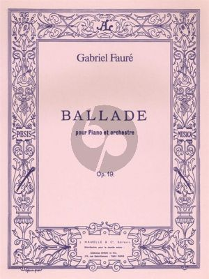 Faure Ballade Opus 19 Piano et Orchestre (reduction 2 Piano's)