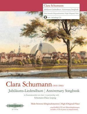 Clara Schumann - Jubiläums-Liederalbum Hohe Stimme (Bk-Cd)