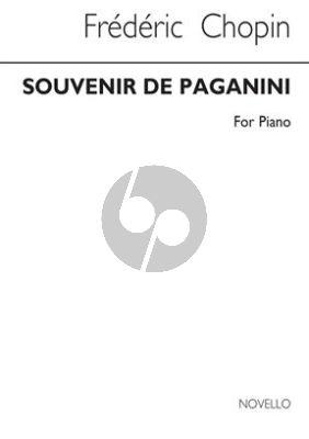 Chopin Souvenir de Paganini Piano Solo