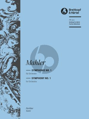 Mahler Symphony No. 1 'Titan' Orchestra Fullscore (Textcritical edition edited by Christian Rudolf Riedel) (Breitkopf)