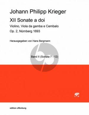 Krieger 12 Sonate a doi Opus 2 No. 7 - 12 Violine-Viola da Gamba-Bc (Part./Stimmen) (Hans Bergmann)