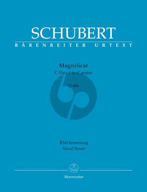 Schubert Magnificat in C-Dur D. 486 Soli-Chor-Orchester (Klavierauszug von Andreas Köhs) (Rudolf Faber)