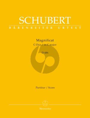 Schubert Magnificat in C-Dur D. 486 Soli-Chor-Orchester (Partitur) (Rudolf Faber)
