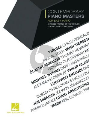 Contemporary Piano Masters for Easy Piano (40 pieces from 20 of the world's leading piano composers)