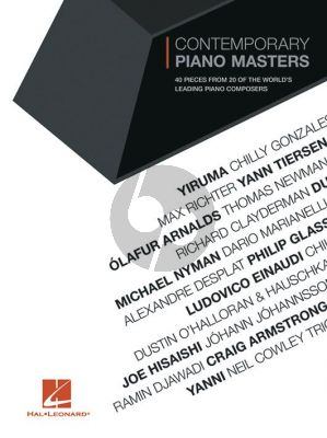 Contemporary Piano Masters (40 pieces from 20 of the world's leading piano composers)