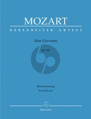 Don Giovanni KV 527 Vocal Score (ital./germ.) (edited by Wolfgang Plath and Wolfgang Rehm) (Hardcover)