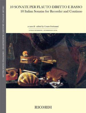 10 Sonate per flauto diritto e basso (edited by Cesare Fertonani)