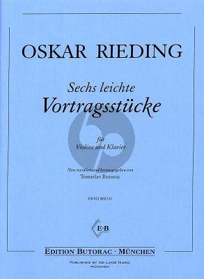 Rieding 6 leichte Vortragsstücke Violine und Klavier (1.Lage) (Tomislav Butorac)