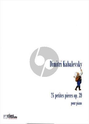 Kabalevsky 24 petites Pièces Opus 39 pour Piano